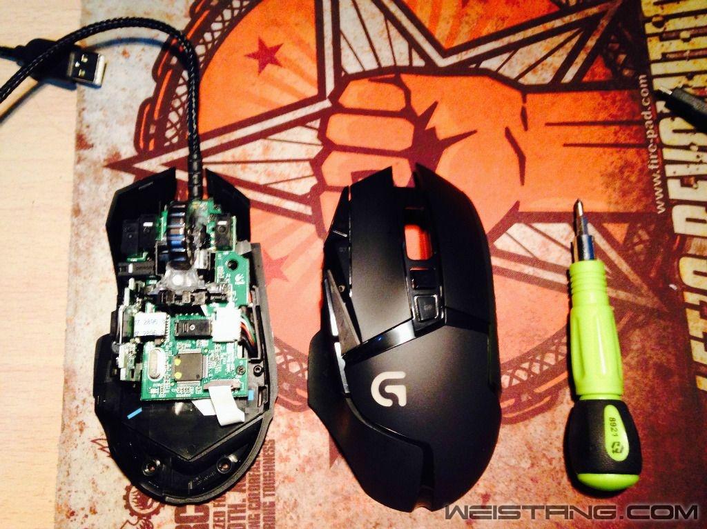 罗技G502鼠标拆解及主板飞线图(图3)