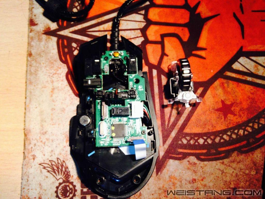 罗技G502鼠标拆解及主板飞线图(图9)