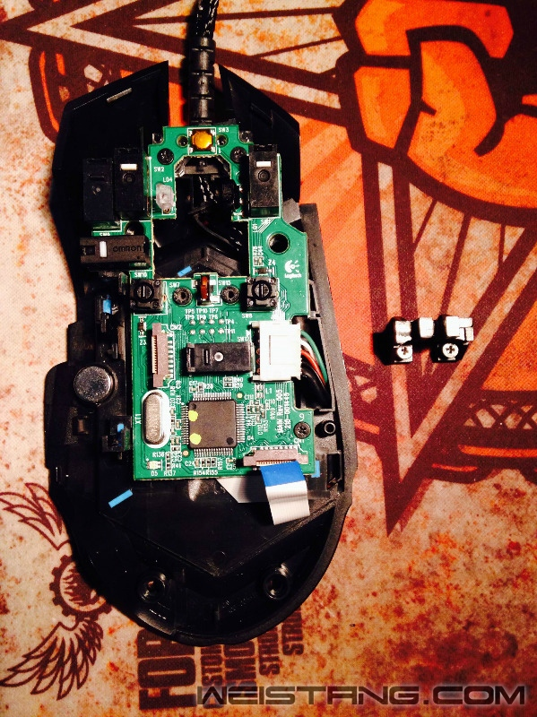 罗技G502鼠标拆解及主板飞线图(图11)