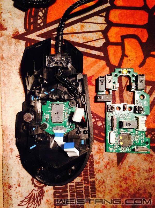 罗技G502鼠标拆解及主板飞线图(图13)