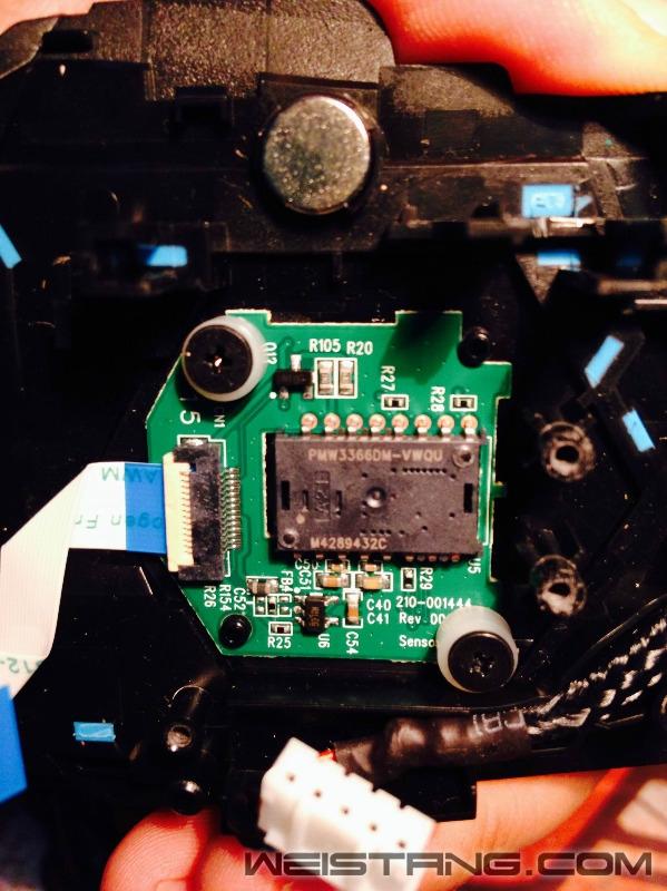 罗技G502鼠标拆解及主板飞线图(图14)
