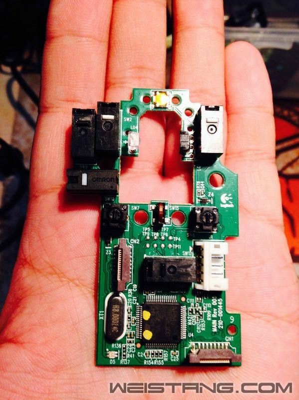 罗技G502鼠标拆解及主板飞线图(图15)