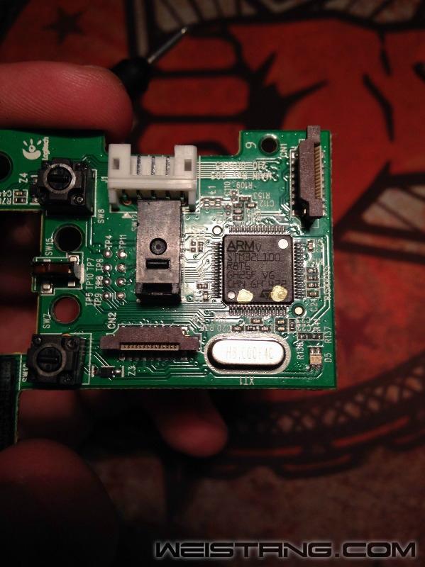 罗技G502鼠标拆解及主板飞线图(图17)