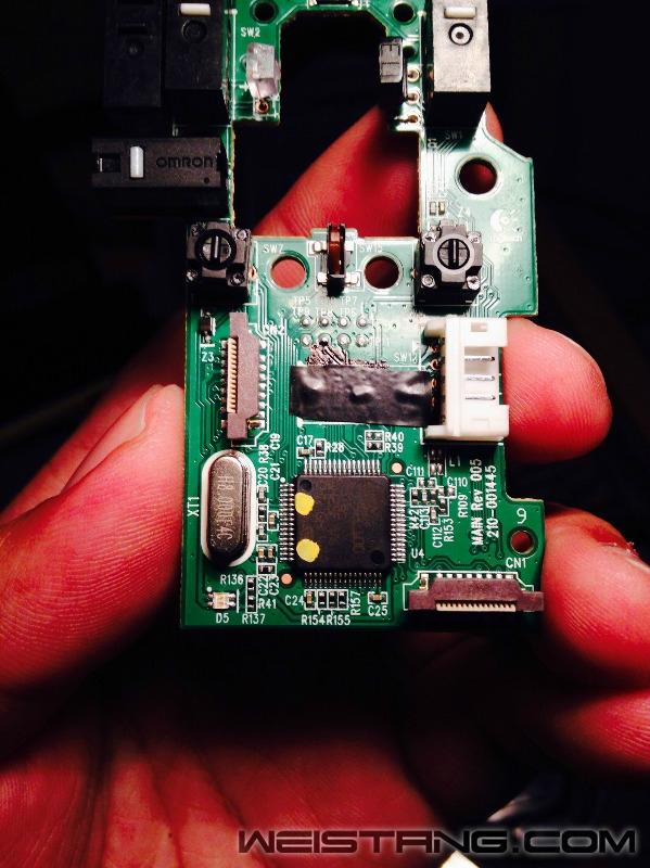 罗技G502鼠标拆解及主板飞线图(图20)