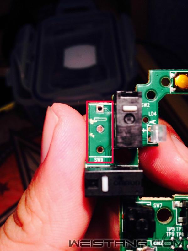罗技G502鼠标拆解及主板飞线图(图21)