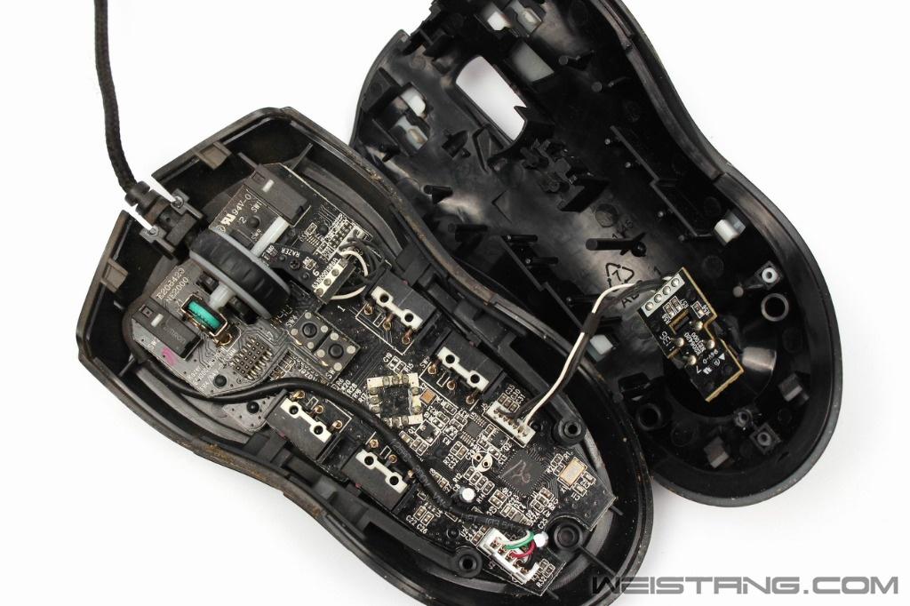 雷蛇巨蝮蛇鼠标拆解 飞线电路图 维修换微动(图2)