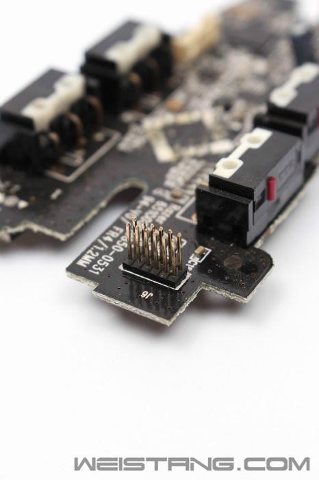 雷蛇巨蝮蛇鼠标拆解 飞线电路图 维修换微动(图14)